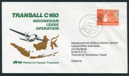1981 Indonesia Transall C160 VFW Flight Cover - Indonesia