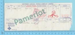 Cookshire  Quebec Canada-  Facture D'électricité De 1961, Reddy Kilowatt, Southern Canada Power Co, - 2 Scans - Canada