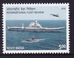 INDIA, 2016, MNH, INTERNATIONAL FLEET, SHIPS, SUBMARINES, PLANES, FIGHTER PLANES, 1v