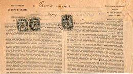 TB 2071 - TB Type Blanc Sur Lettre Du Percepteur OB LAGNY Pour LAGNY - Marcophilie (Lettres)