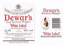 """2 Etichette DEWAR'S Fine Scotch Whisky """"White Label"""" - Whisky"""