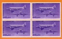 Ph-France-Aériens-Bloc De 4 Timbres Neuf** 1986 N°59