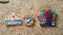 3 Pins Sur Le Canada Toronto Planche A Voile Et Oiseau - Pin's & Anstecknadeln