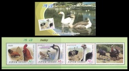 North Korea 2016 Mih. 6269/71 Fauna. Poultry (booklet) MNH ** - Korea, North