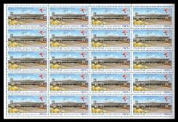 North Korea 2016 Mih. 6294 Aviation. Pyongyang International Airport (sheet) MNH ** - Korea, North