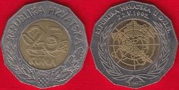 "Croatia 25 Kuna 1997 ""U.N. Membership"" BiMetallic - Croatia"