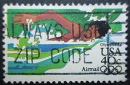 USA Poste Aérienne N°97 Jeux Olympiques De Los Angeles 1984  NATATION Oblitéré