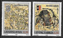 Yugoslavia: 1990 Idrija Town And Mercury Mine 500th Anniversary 2v MNH - Nuovi