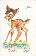 Walt Disney - Bambi Avec Pub Pour Les Chocolats Tobler - Disney