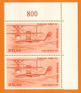 Ph-France-Aériens-neuf** Paire Verticale 1987 N°58b ( 2ième Tirage)