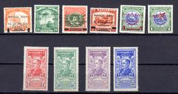Tp 1922 Surchargé, Don J.M. Delgado, 1 / 5* +14* + 19 / 22*, Cote 48 € - El Salvador