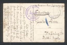 Feldpostkarte - Villers Sous Prény - 121 éme Division Infanterie - Marcophilie (Lettres)
