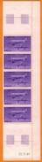 Ph-France-Aériens-neuf** 1986 N°59 Bande De 5 Timbres + Coin Daté 22.11.85