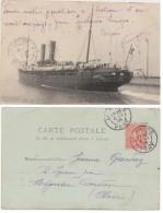 """CARTE POSTALE PAQUEBOT """"LA CASCOGNE"""" LE HAVRE 1905 - Dampfer"""