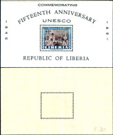 83915) Liberia-1946-15 Anni Dell'UNESCO-BF -n.20-cat-5 Euro Nuovo - Liberia