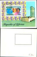 83914) Liberia-1975-anno Internazionale Della Donna-BF -n.74-cat-4 Euro Usato - Liberia