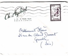 MAROC LETTRE 1959 CASABLANCA POUR GRENOBLE /  195 - Ohne Zuordnung
