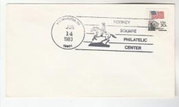 1983 Wilmington De USA Stamps COVER EVENT Pmk HORSE Rodney Square Philatelic Center - Pferde