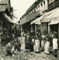 Caucase Georgie Tiflis Meidan Rue Commercante Tbilissi თბილისი Ancienne Photo Stereo NPG 1906 - Stereoscopic