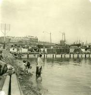 Caucase Transcaucasie Bakou Vue Du Port Azerbaïdjan Bakı  Ancienne Photo Stereo NPG 1906
