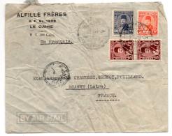Egypte-Lettre De LE CAIRE Pour ROANNE (France)--composition De Timbres--personnalisée - Égypte