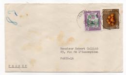 SRI LANKA--CEYLAN - Lettre Pour Paris (France)--composition De Timbres - Sri Lanka (Ceylon) (1948-...)