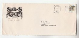 1980 USA Stamps ADVERT COVER From  'SPLIT S AVIATION' San Diego To GB - Airplanes