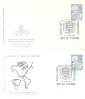 EXPOSICION MES DE PANAMA 20 DE NOVIEMBRE DE 1961 2 SOBRES SPECIAL COVERS BUENOS AIRES ARGENTINA 20 AL 30 DE NOVIEMBRE DE - Panama
