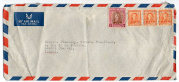 Nouvelle Zélande-1950--Lettre Pour ROANNE (France)--Composition De Timbres - Nueva Zelanda