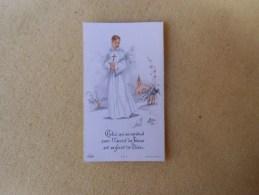 """Image Pieuse  Communion Solennelle ( Environs D'argentan """" Silly En Gouffern ) Dep 61 - Imágenes Religiosas"""