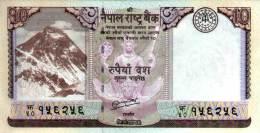 NEPAL RUPEE 10 BANKNOTE 2013 MINT UNCIRCULATED - Nepal