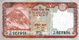 NEPAL 20 RUPEE  BANKNOTE 2013 MINT UNCIRCULATED - Nepal