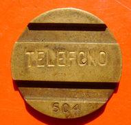 VINTAGE FICHA TOKEN - ARGENTINA 504 TELEPHONE - Jetons En Medailles