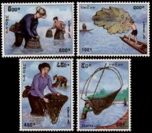 LAOS - 1998 - Mi 1616-1619 - TRADITIONAL FISHING - MNH ** - Laos