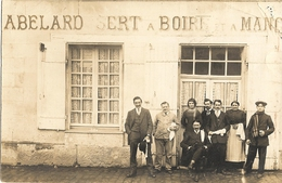 Carte Photo A Découvrir  Maison ABELARD SERT A BOIRE  ET A MANGER (ed Guillominot Boespflug Et Cie PARIS)  83 - Fotografie