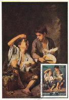 D26216 CARTE MAXIMUM CARD 1971 SHARJAH - YOUNG GRAPE EATERS BY MURILLO CP ORIGINAL - Arte