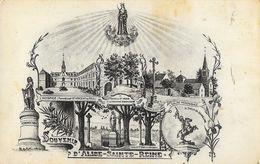 Souvenir D'Alise-sainte-Reine - Multivues: L'Hospice, L'Eglise, Vercingetorix... - Carte L.B. Non Circulée - Musées
