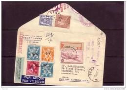 Belgie Belgique BRIEF LETTRE 724K 724L 724N Etc -10% VAN ACKER -> USA - 1946 -10%