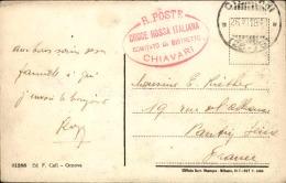 ITALIE- Oblitération De Chiavari Sur Carte Postale En 1918 Pour La France - A Voir - L  4278 - 1900-44 Vittorio Emanuele III