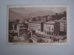 CARTOLINA LA SPEZIA - PANORAMA E PALAZZO DEGLI STUDI - La Spezia