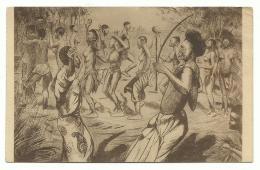 1934 Congo Belge - Gravure à L'eau Forte Henri Kerels - Danse Chez Les Lulua (Kasai) - Belgisch-Kongo - Sonstige
