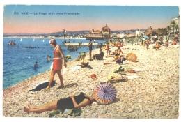 CPA 06 - 155. NICE - La Plage Et La Jetée Promenade - Niza