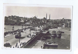 TURKEY - CONSTANTINOPLE - NEW GALATA BRIDGE - EDIT C. M .& S. - STAMPS - 1930 - Turquie