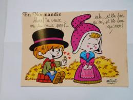 CP , En Normandie , Tu Veux Ou Tu Veux Pas ? - Haute-Normandie