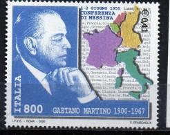PIA -  ITALIA -  2000  : 100° Della Nascita Di Gaeano De Martino -    (SAS  2511) - 6. 1946-.. República