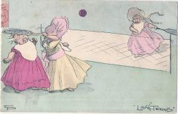 Illustrateur Le Sport - Illustrateur Lawn Tennis  - Timbrée TTB  (petit Décollement) Sports Nautiques - Autres Illustrateurs