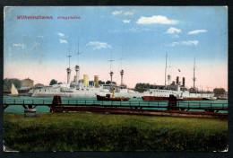 5542 - Alte Ansichtskarte - Wilhelmshaven Kriegshafen - Kriegsschiffe Gel 1918 - Ottmar Zieher - Wilhelmshaven