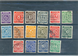 1948 ALLEMAGNE ZONE AAS Y & T N° 6 7 8 9 10 12 14 15 16 18 21 22 23 24 25 26  ( O ) 16 Différents - Gemeinschaftsausgaben
