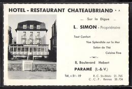 CPSM 35 - Paramé, Hôtel-Restaurant Châteaubriand - Parame