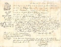 """27 Mars 1830 - NICE (06) - Connaissement - Tartane """"Le Saint-Charles"""" - Huile D´olive Mi-fine Et Surfine - 12 Orangers - Documentos Históricos"""
